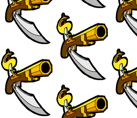 Pirate Weapon fabric by little_treasures on Spoonflower - custom fabric