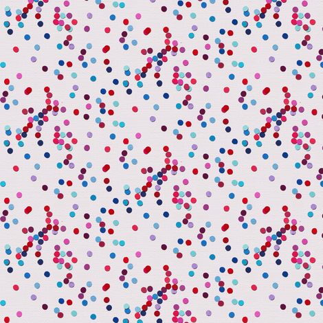 paper hundreds and thousands sprinkles - cream fabric by coggon_(roz_robinson) on Spoonflower - custom fabric