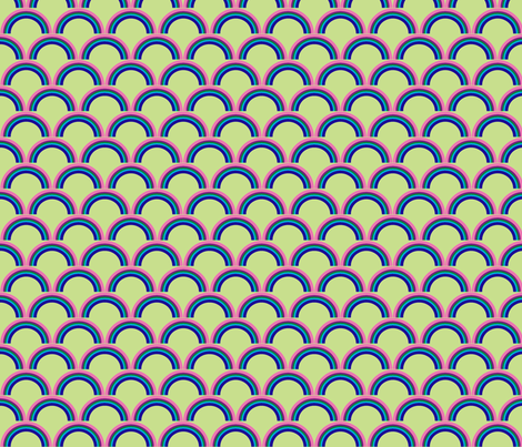rainbow green fabric by weebeastiecreations on Spoonflower - custom fabric