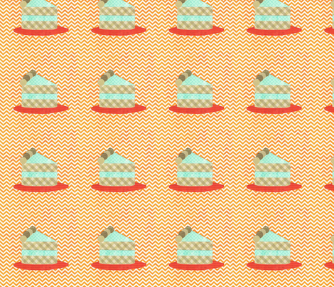 cake collage orange slice fabric by krihem on Spoonflower - custom fabric