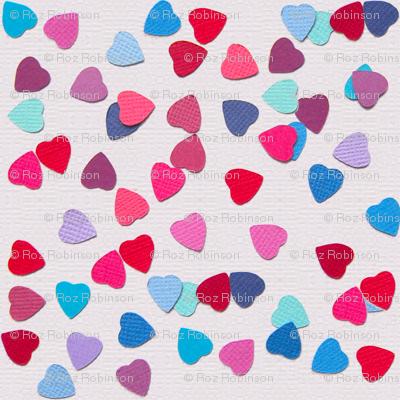 paper heart sprinkles - cream