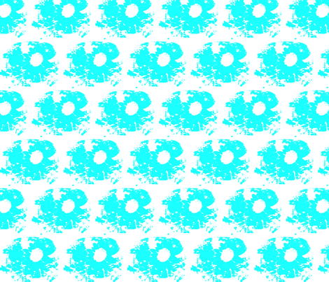 sunflower_white_and_blue fabric by _vandecraats on Spoonflower - custom fabric