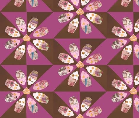 Magazine cupcakes fabric by mimilo on Spoonflower - custom fabric
