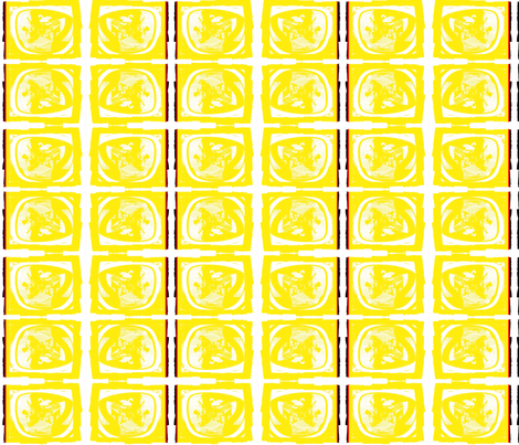 Hans Christian Andersen's View of the World Yellow fabric by _vandecraats on Spoonflower - custom fabric