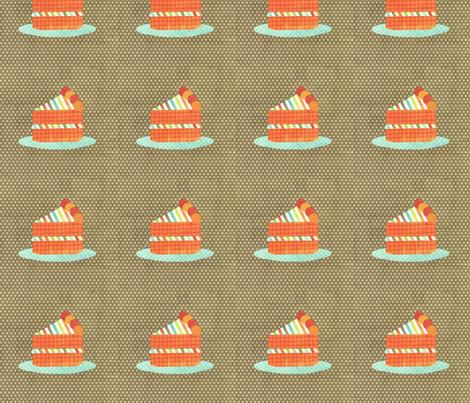 cake slice brown fabric by krihem on Spoonflower - custom fabric