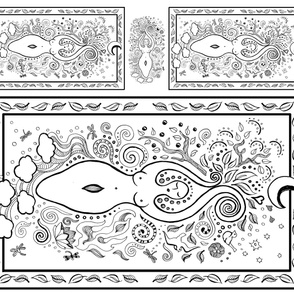 Color Your Own Goddess Panel