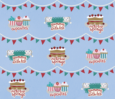 English Street Party (Paper version) fabric by lisa_brown on Spoonflower - custom fabric