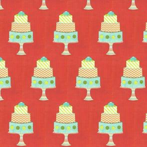 cake layered red
