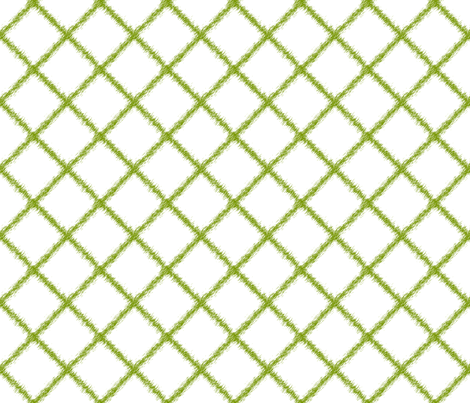 Ikat Lattice Green fabric by lulabelle on Spoonflower - custom fabric