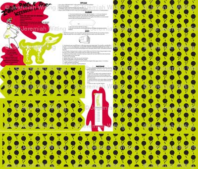 Zombie poodle skirt kit - slime