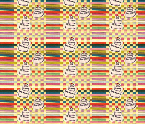 120710_cake-paper-fabric-2-ed fabric by renateandtheanthouse on Spoonflower - custom fabric