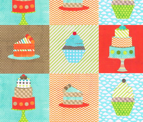 patchwork patisserie  fabric by krihem on Spoonflower - custom fabric