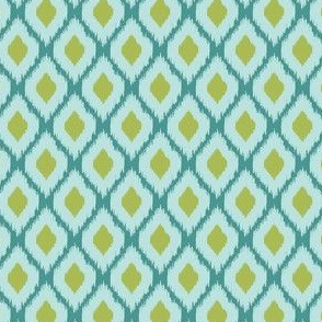 Blue, Green & Turquoise Ikat