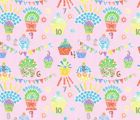 number cakes fabric by jeannemcgee on Spoonflower - custom fabric