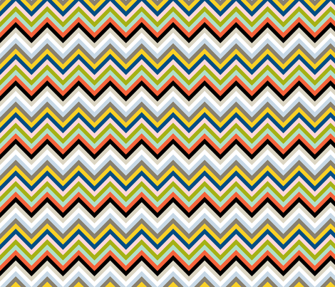 Open Book Chevron || book stripe stripes geometric arrows 70s fabric by pennycandy on Spoonflower - custom fabric