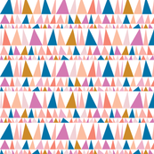 Christmas Tree Farm* (Pinks & Blue) || triangles stripes geometric abstract trees holiday