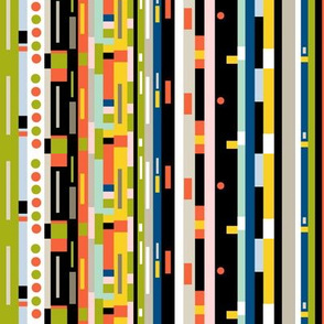 Staxx Spines || books digital geometric library stripes tribal geek computer