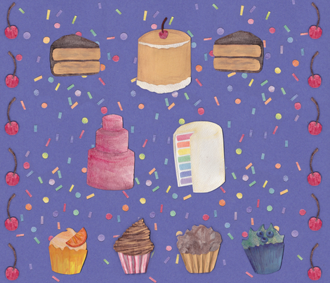 Paper Cakes fabric by glindabunny on Spoonflower - custom fabric