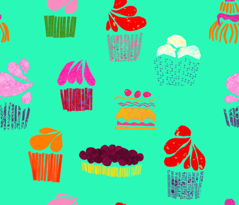 Cakes fabric by rouge_pivoine on Spoonflower - custom fabric