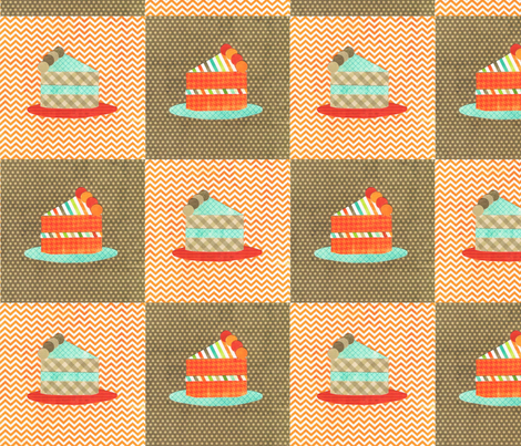 cake slices collage fabric by krihem on Spoonflower - custom fabric