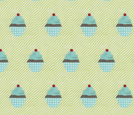 cake collage cupcake lime fabric by krihem on Spoonflower - custom fabric