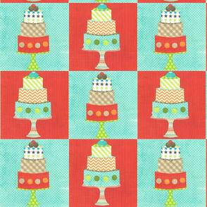 layered cake checks