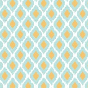 Large Ikat in Blue and Yellow