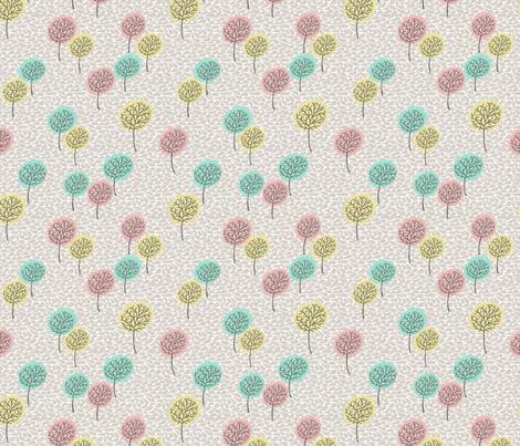 tree_breeze_BEIGE_COLOURS fabric by glorydaze on Spoonflower - custom fabric
