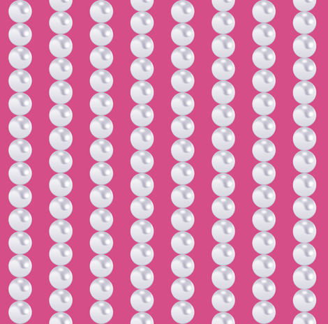 Pearl Chains in Girly Pink fabric by pearl&phire on Spoonflower - custom fabric