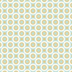 Tribal Dots in Blue and Yellow