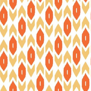 Orange and Yellow Ikat Rows