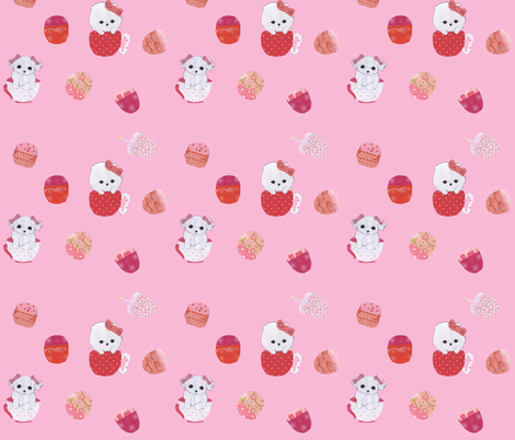 What's a tea party without cupcakes (And puppies) fabric by magneetje on Spoonflower - custom fabric