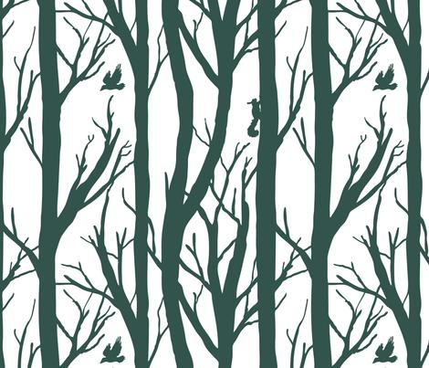 Winter Forest Habitat fabric by pixelmech on Spoonflower - custom fabric
