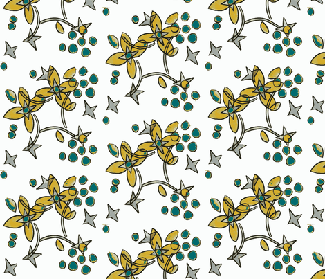 balsom root ©2012 Jill Bull fabric by palmrowprints on Spoonflower - custom fabric