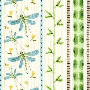 Dragonfly Stripe Natural - Frolic Collection