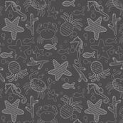 sea creatures, gray