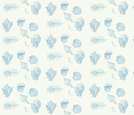 shells_delft_blue fabric by hookedbyk on Spoonflower - custom fabric