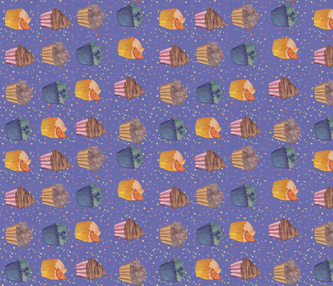 Paper Cupcakes fabric by glindabunny on Spoonflower - custom fabric