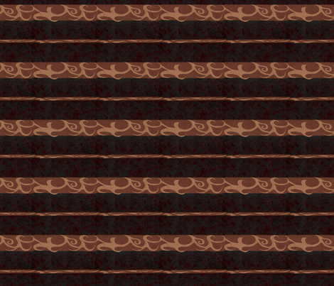 Devil's Food Stripe fabric by evenspor on Spoonflower - custom fabric