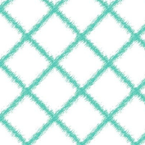 Ikat Lattice Aqua