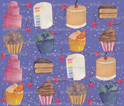 Patterned Paper Cakes