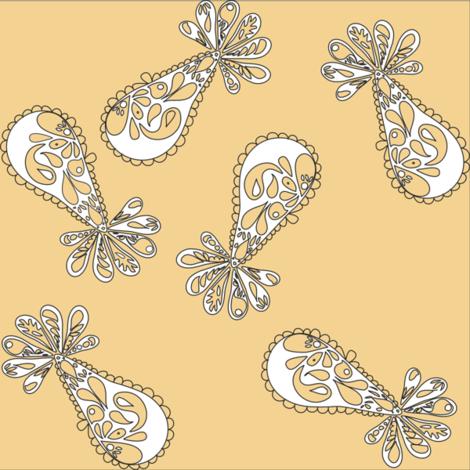 Midcentury_Cocktail_dress_print fabric by jodybristol on Spoonflower - custom fabric