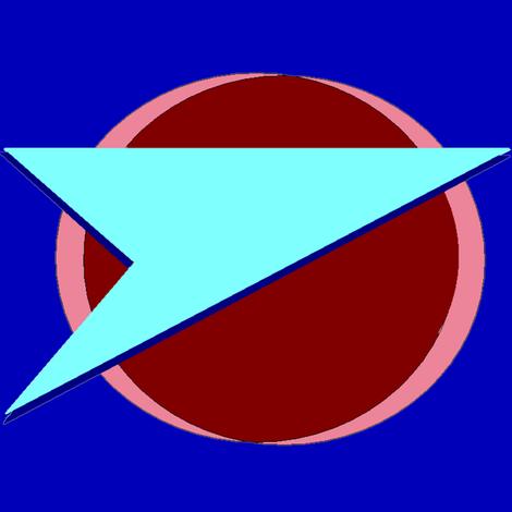 B7-Federation-BrightBlue fabric by datawolf on Spoonflower - custom fabric