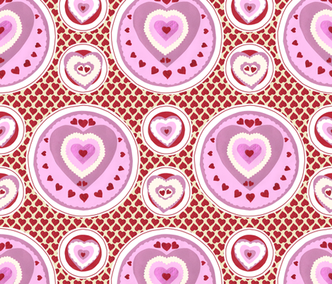 Afternoon Tea with The Queen of Hearts!  fabric by rhondadesigns on Spoonflower - custom fabric