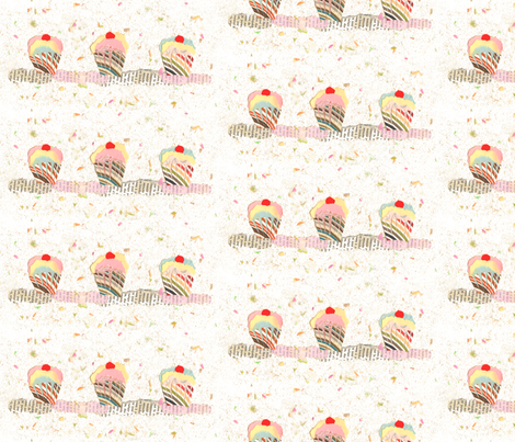 Sweet yummy collage fabric by lucybaribeau on Spoonflower - custom fabric