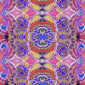 Psychedelic Hearts and Spades vertical stripe
