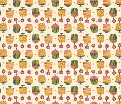 happy birthday! fabric by gracedesign on Spoonflower - custom fabric