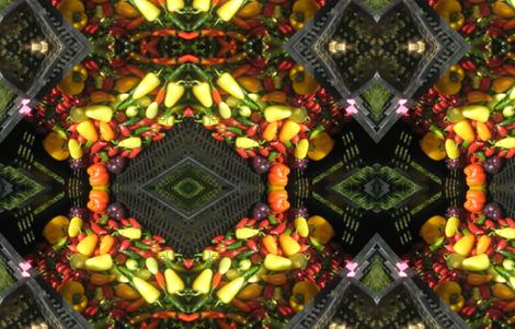 Hot Pepper Geo Pattern fabric by gwen_charles on Spoonflower - custom fabric