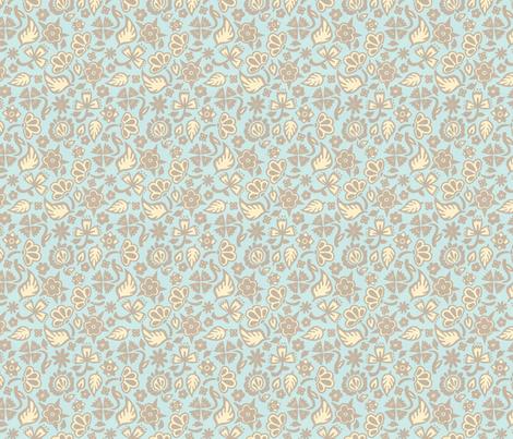 Beach House Filigree fabric by hugandkiss on Spoonflower - custom fabric