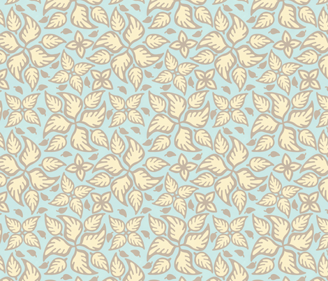 Beach House Leaves fabric by hugandkiss on Spoonflower - custom fabric